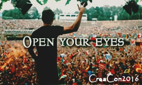 Open your eyes and look around